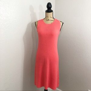 DKNY Donna Karen Coral Salmon 100% Wool Dress
